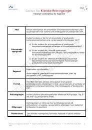 Titel Klinisk retningslinje for anvendelse af kompressionsstrømper præ