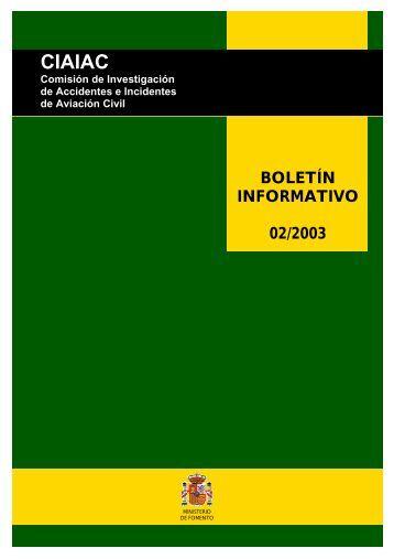 Boletin Informativo 02/2003 - Ministerio de Fomento