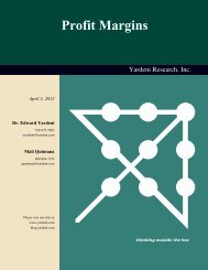 Relative Profit Margins - Dr. Ed Yardeni's Economics Network