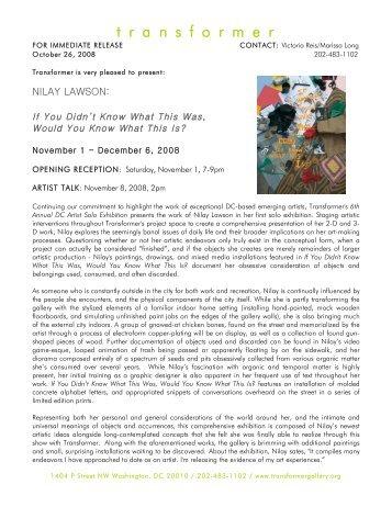 Press release in PDF format - Transformer