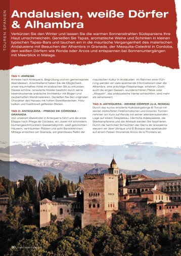 andalusien, weiße dörfer & alhambra - Ring Finest Tours