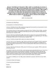 Décret n° 96-2520 du 30 décembre 1996, relatif à la ... - REME