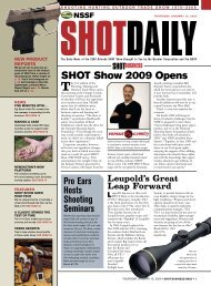 Read all of Friday's SHOT Show news
