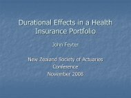 presentation - New Zealand Society of Actuaries