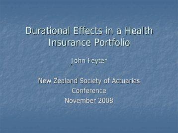 presentation - New Zealand Society of Actuaries