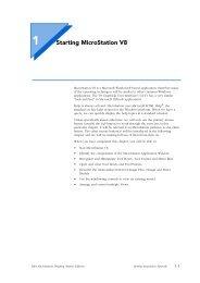 Starting MicroStation V8