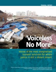 Report of People's Tribunal on Housing Rights (2007) - hic-sarp.org