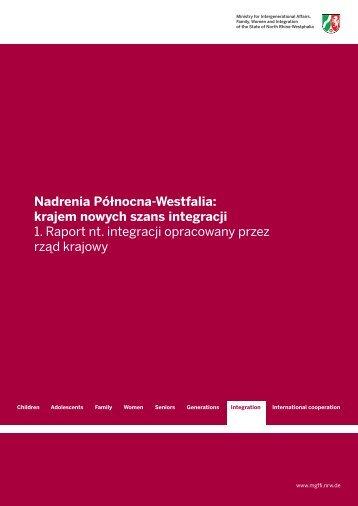 Nadrenia Północna-Westfalia: krajem nowych szans integracji 1 ...