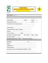 Bright Stars GROUP WORK REFERRAL FORM - NWHN