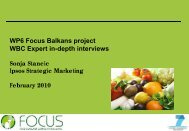 Experts survey WBC overview - Focus-Balkans