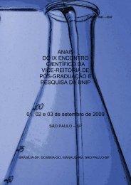 Anais do IX Encontro Científico da Vice-Reitoria de Pós ... - Unip