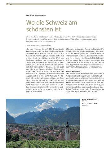 Wo die Schweiz am schönsten ist - Schweizer Heimatschutz