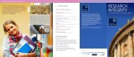 Research Integrity information leaflet - University of Oxford