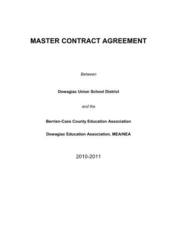 master contract agreement