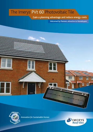 The Imerys PVt 60 Photovoltaic Tile - Ecobuild Product Search