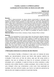 O poeta, o poema e a militância poética: a produção de Ferreira ...