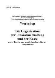 Die Organisation der Finanzbuchhaltung - kassenverwalter.de