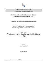 Vzájemné vazby daní a sociálních dávek v ČR