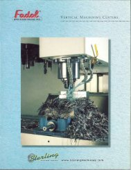 Fadal Vertical Maching Centers Brochure - Sterling Machinery