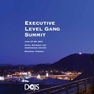 Executive Level Gang Summit - Virginia Department of Criminal ...