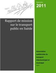 Rapport de mission sur le transport public en Suède - aqtim