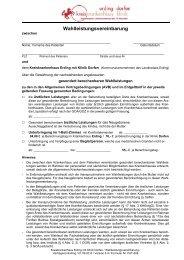 Wahlleistungsvereinbarung - im Kreiskrankenhaus Erding mit Klinik ...