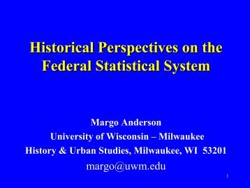 Who Counts? The Census and the Statistical System