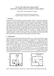 An accurate UWB radar imaging method using indoor multipath ...