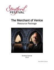 the merchant of venice - Stratford Festival