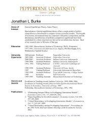 Jonathan L Burke - Meet the Faculty - Pepperdine University