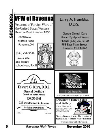 November pages 6-7 - the Ravenna School District
