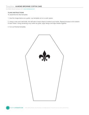 Template a cake takes shape owl martha stewart living for Coffin cake template