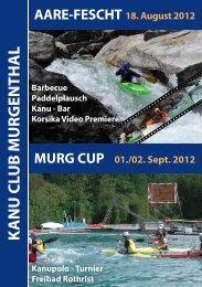 Programm Aare-Fescht Samstag, 18. August 2012 - Kanu Club ...