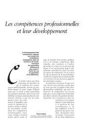 Les compétences professionnelles et leur développement