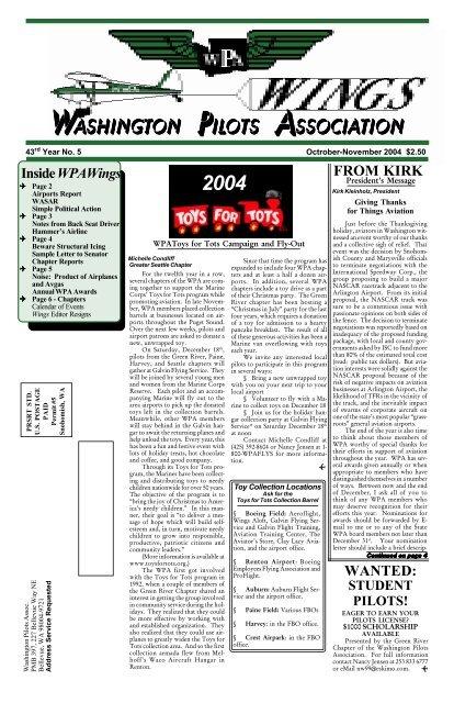 December 2004/January 2005 - Washington Pilots Association