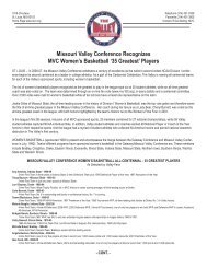 Women's Basketball All-Centennial Team (PDF) - Missouri Valley ...