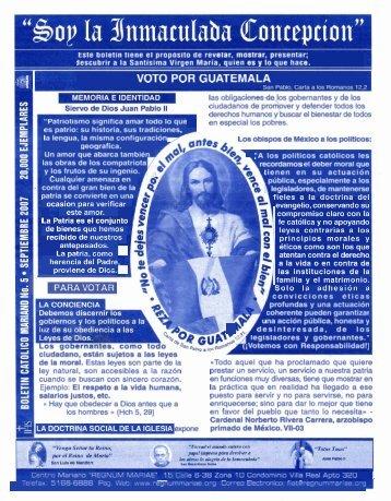 VOTO POR GUATEMALA - Regnum Mariae