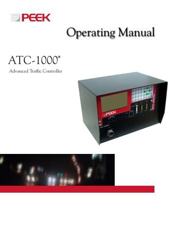 ATC-1000 Operating Manual - Rev 1 - Peek Traffic