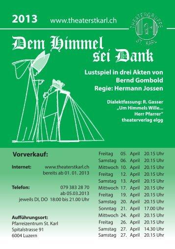Dem Himmel sei Dank - Theatergruppe St. Karl
