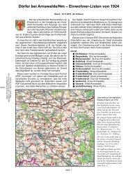 Dörfer bei Arnswalde/Nm – Einwohner-Listen von 1924