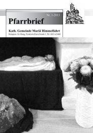 Pfarrbrief 1-2013 - Mariä Himmelfahrt in Kempten