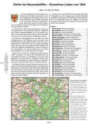 Dörfer bei Neuwedell/Nm - Woldenberg/Neumark - Khd-research