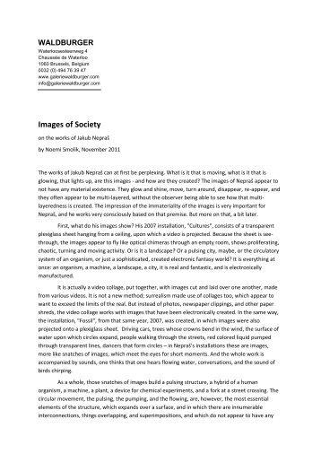 PDF text: Noemi Smolik on Jakub Nepras - Galerie Waldburger