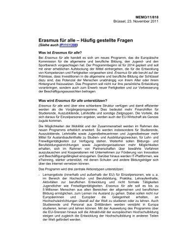 Erasmus für alle – Häufig gestellte Fragen - IJAB