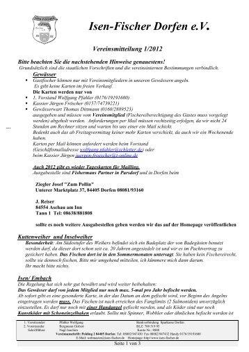 Vereinsmitteilung 1/2012 - Isen-Fischer Dorfen