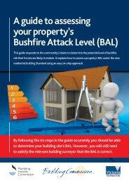 A guide to assessing your property's Bushfire Attack Level (BAL)