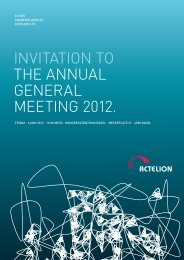 INVITATION TO THE ANNUAL GENERAL MEETING 2012. - Actelion