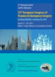 12th European Congress of Trauma Emergency ... - IPASVI GENOVA