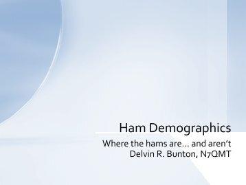 Ham Demographics (2009) – Delvin/N7QMT