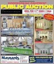woodworking equipment - Maynards Industries